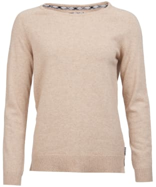 Women's Barbour Pendle Crew Sweater - Caramel