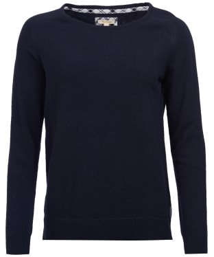 Women's Barbour Pendle Crew Sweater - Navy