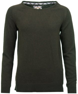 Women's Barbour Pendle Crew Sweater - Olive