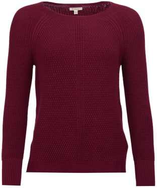 Women's Barbour Stirling Knit Sweater - Soft Bordeaux
