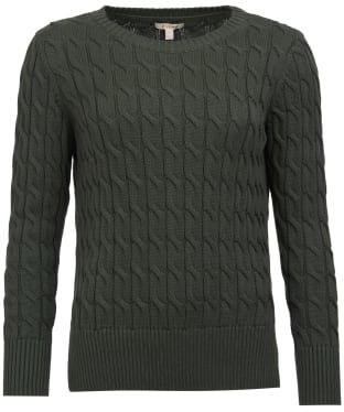 Women's Barbour Lewes Knit Sweater - Wilderness Green