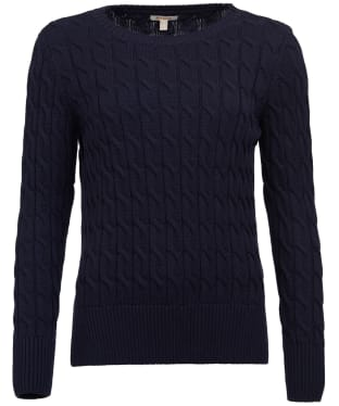 Women's Barbour Lewes Knit Sweater - Navy