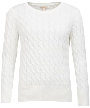 Women's Barbour Lewes Knit Sweater - Off White