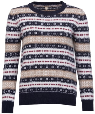 Women's Barbour Peak Knit Sweater - Navy