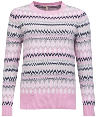 Women's Barbour Alpine Knit Sweater - Soft Azalea