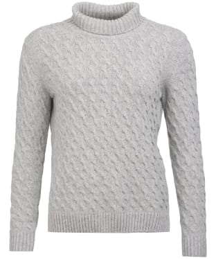 Women's Barbour Burne Knit Sweater - Light Grey Marl