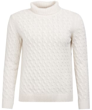 Women's Barbour Burne Knit Sweater - Off White