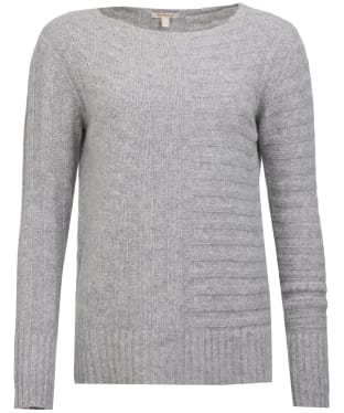 Women's Barbour Jasmine Knit Sweater - Light Grey Marl