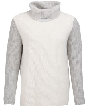 Women's Barbour Dipton Roll Collar Sweater - Cloud / Grey Marl