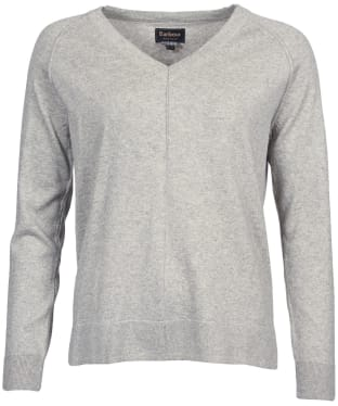 Women's Barbour Lomond Knit Sweater - Pale Grey Marl