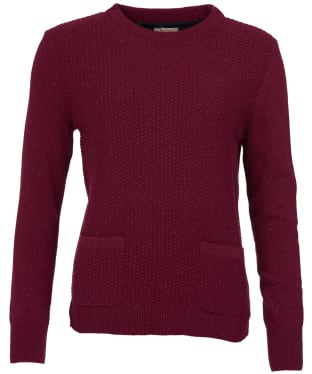 Women's Barbour Brecon Knit Sweater - Soft Bordeaux