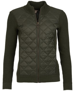 Women's Barbour Dales Knitted Jacket - Olive