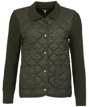 Women's Barbour Moors Knitted Jacket - Olive