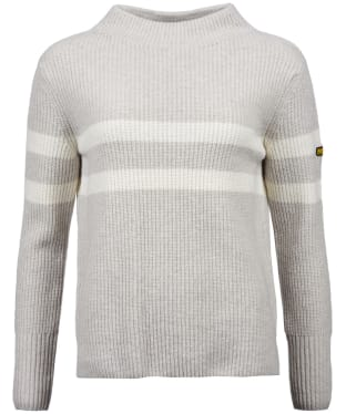Women's Barbour International Quayle Knit - Pale Grey Marl
