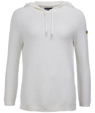 Women's Barbour International Doran Knitted Hoody - Off White