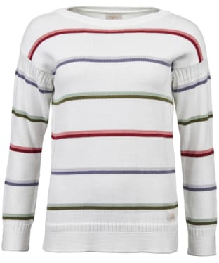 Women's Barbour Wetherlam Knit Sweater - Off White