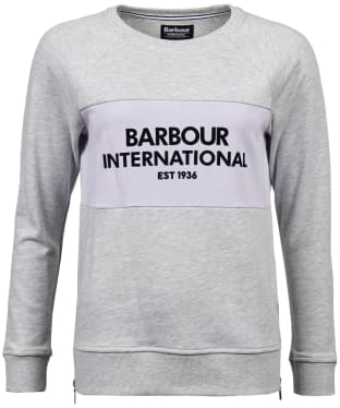 Women's Barbour International Island Sweatshirt - Pale Grey Marl