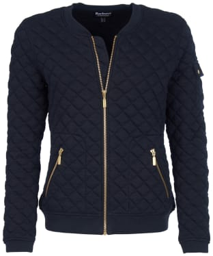 Women's Barbour International Ballig Sweater Jacket - Black