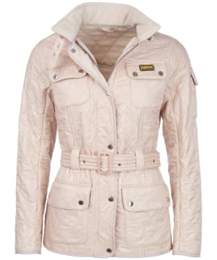 Women's Barbour International Polarquilt Jacket - Oyster