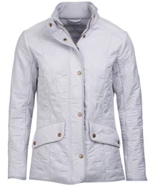 Women's Barbour Cavalry Polarquilt Jacket - Ice White