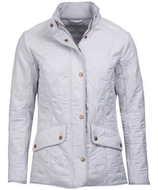 Women's Barbour Cavalry Polarquilt Jacket - Ice White