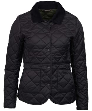 Women's Barbour Deveron Quilted Jacket - Black