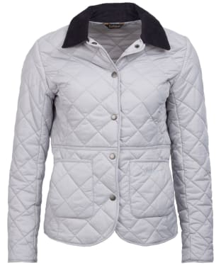 Women's Barbour Deveron Quilted Jacket - Ice White