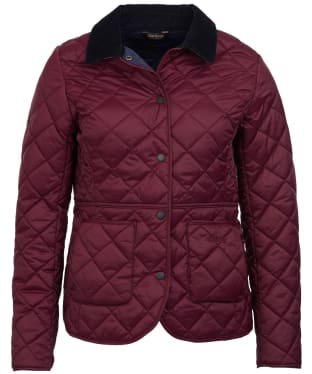 Women's Barbour x Sam Heughan Deveron Quilted Jacket - Bordeaux