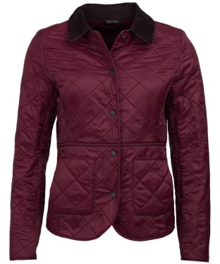 Women's Barbour Deveron Polarquilt Jacket - Bordeaux