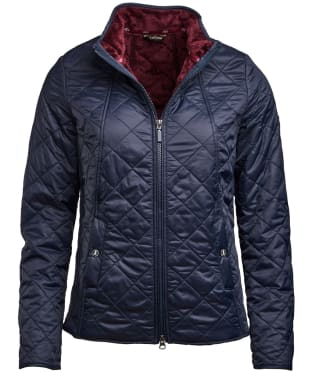 Women's Barbour Backstay Quilted Jacket - Navy