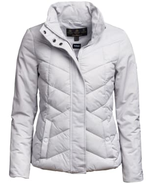 Women's Barbour Sidelight Quilted Jacket - Ice White