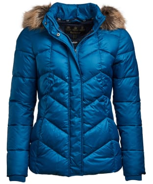 Women's Barbour Downhall Quilted Jacket - Tide Blue