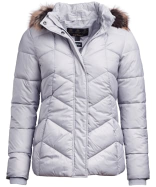 Women's Barbour Downhall Quilted Jacket - Ice White