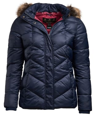 Women's Barbour Downhall Quilted Jacket - Navy