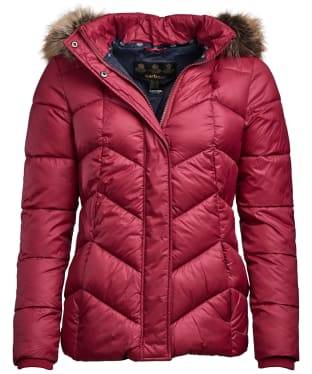 Women's Barbour Downhall Quilted Jacket - Deep Pink