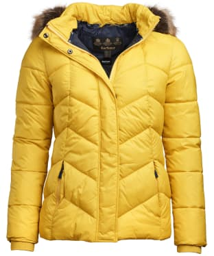 Women's Barbour Downhall Quilted Jacket - Sulphur Yellow