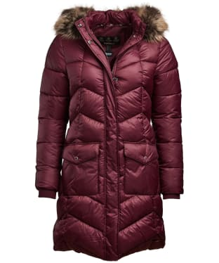 Women's Barbour Clam Quilted Jacket - Bordeaux