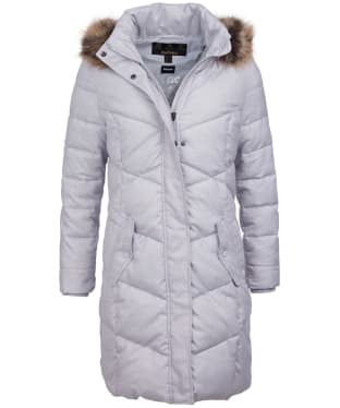 Women's Barbour Sternway Quilted Jacket - Ice White Marl