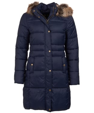 Women's Barbour Caldbeck Quilted Jacket - Navy