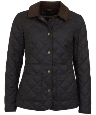 Women's Barbour Helvellyn Quilted Jacket - Olive Herringbone