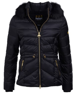 Women's Barbour International Island Quilted Jacket - Black