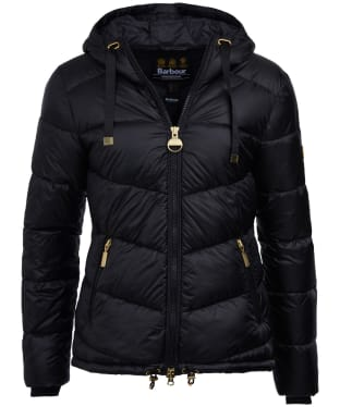 Women's Barbour International Brace Quilted Jacket - Black