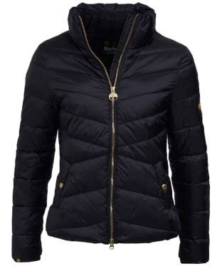 Women's Barbour International Dual Quilted Jacket - Black