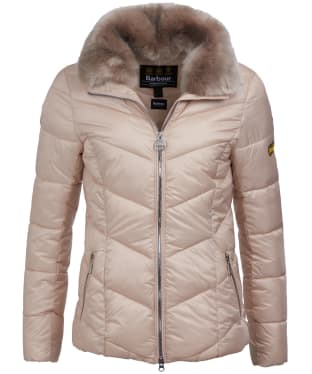 Women's Barbour International Nurburg Quilted Jacket - Oyster