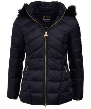 Women's Barbour International Hampton Quilted Jacket - Black