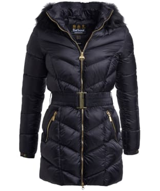 Women's Barbour International Highpoint Quilted Jacket - Black