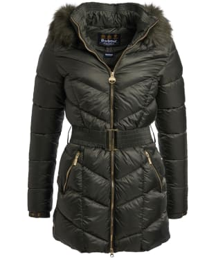 Women's Barbour International Highpoint Quilted Jacket - Moto Green