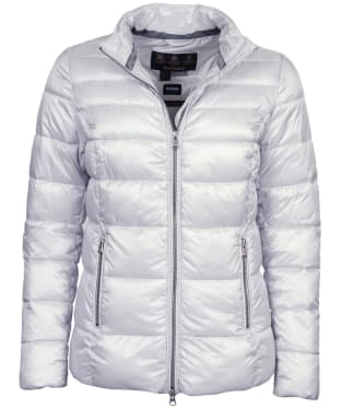 Women's Barbour Lawers Quilted Jacket - Ice White