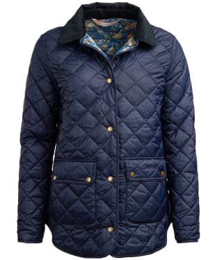 Women's Barbour x Emma Bridgewater Naomi Quilted Jacket - Navy
