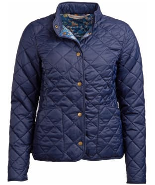 Women's Barbour x Emma Bridgewater Elise Quilted Jacket - Navy